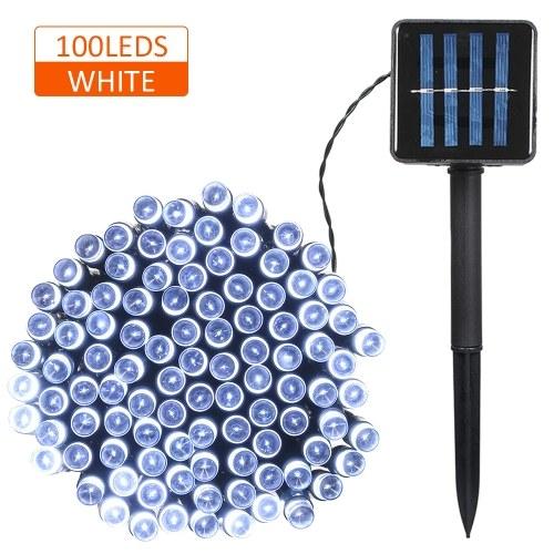 Solar Powered String Light 100/200 LEDs 2 Lighting Modes Christmas Lights