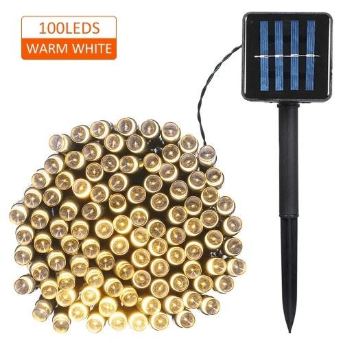 Солнечный шнур 100/200 светодиодов 2 режима освещения Рождественские огни фото