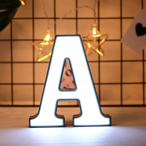 Weiße Brief-Form Lampe Home Club Outdoor Indoor Party Hochzeitsdekoration