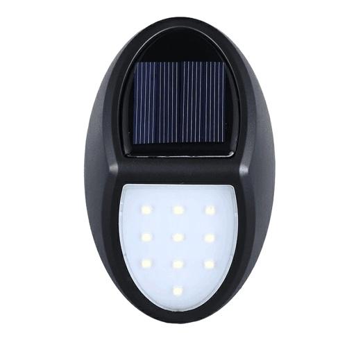 10LEDs Lámpara de pared con luz solar IP65 Iluminación exterior resistente al agua para patio patio jardín