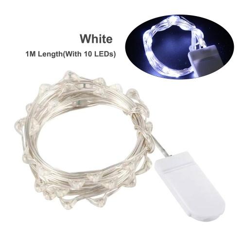 1M / 3.3ft avec 10 LED Guirlande lumineuse en fil de cuivre