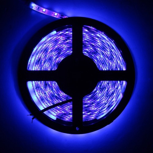 DC 12V 5M 300LEDs Purple LEDs Strips Light Flexible Tape Lights with DC Connector for Bar Home Christma Decoration