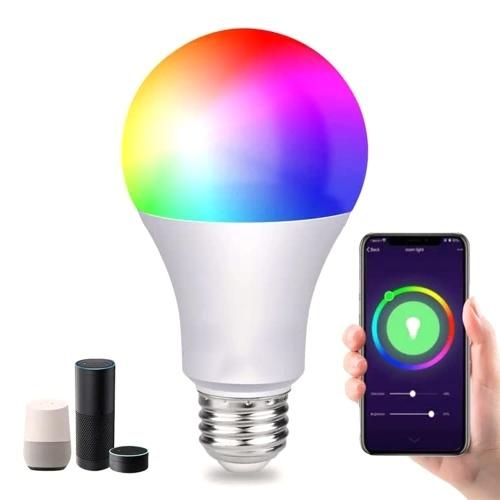 AC100-240V E27 RGB + CW Bombilla inteligente con conexión wifi