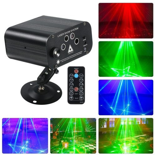 5 Hole 128 Pattern Energy Saving Lottomr Lamp Multi-Function Halloween Disco DJ Stage Festival Colorful Projection Lamp