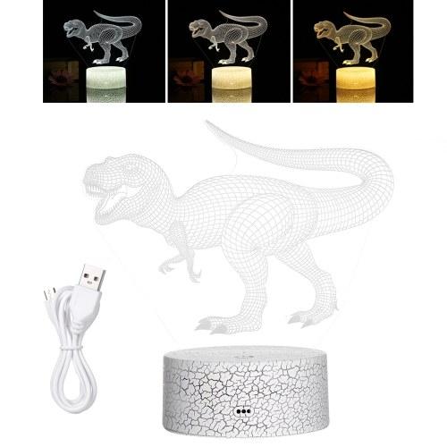Lámpara de ilusión LED de luz nocturna 3D dinosaurio 3D