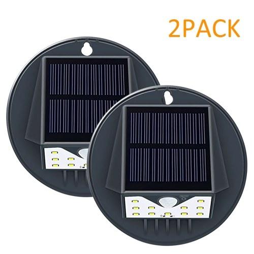 Solar Powered Motion Sensor Wall Light 2pack Outdoor IP65 Water-resistant Night Light for Door Pathway Garage Garden