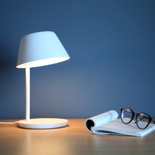 Yeelight YLCT02YL LEDs Настольная лампа с двойным источником света, плавное затемнение, управление с помощью приложения / голосовое управление - без зарядки QI