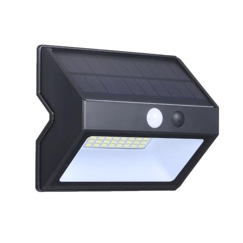 Outdoor Waterproof Human Body Induction Wall Lmap 48 Bulbs Solar Energy Saving Highlight Wall Lamp