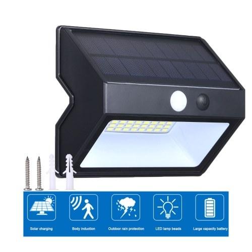 Открытый водонепроницаемый человеческое тело индукции стены Lmap 48 ламп солнечной энергии энергосберегающие настенный светильник