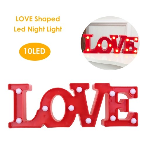 Led Night Light LOVE Shaped Decoration Lamp for Birthday Party Valentine's Day