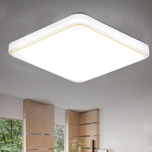AC220V Square LED Ceiling Lamp White Color Kitchen Balcony Porch Modern Panel Light Fixture