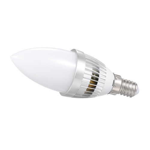 A C 85-265 V 3 W L-ED RGB+ Warm White Candle Bulb with Remote Control Controller