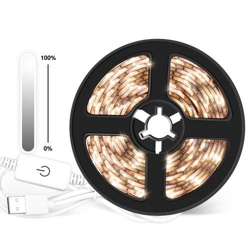 Bandes LED à intensité variable USB, lumière tactile, corde de contrôle