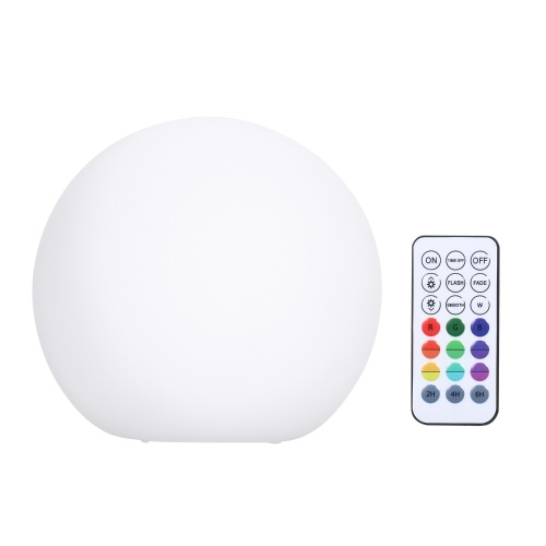 Luz de piscina de flotadores regulables con control remoto RF IP67 Impermeable RGBW Bola de LED que cambia de color