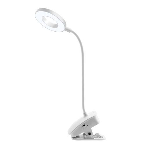 USB-Aufsteck-Tischlampe Berühren von Steuer-LEDs Augenpflegendes Nachtlicht 3 Farbmodi Leselicht (Ring)