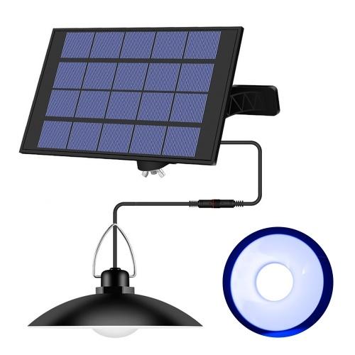 Lámpara colgante de energía solar con panel ajustable Sensor de iluminación de encendido / apagado automático IP65 Lámpara colgante resistente al agua para jardín exterior / interior Patio Patio