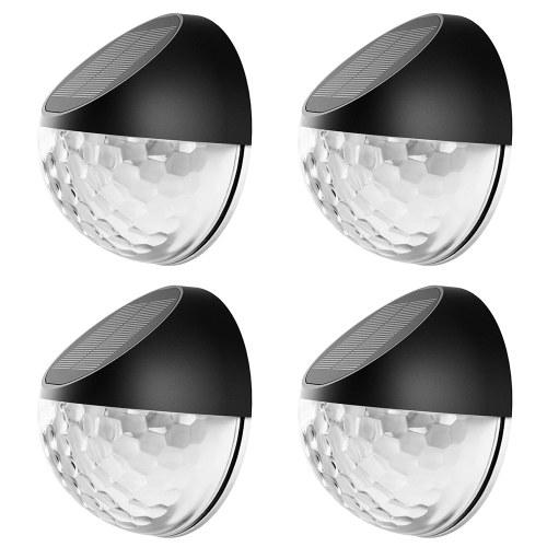 4PCS Round Fence Light Decorative Lamp Warm Lighting Effect