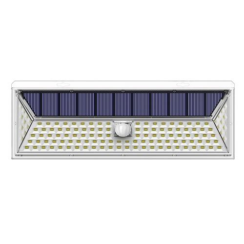 126 LED Bombillas Luz de pared Energía solar IP65 PIR Sensor de movimiento 270 ° Rango de iluminación