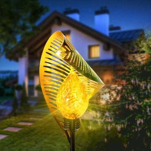 Solar Iron Leaf LED Light Outdoor Lawn Garden Inserted LED Light Landscape Light