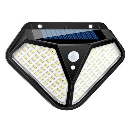 Lámpara de pared solar tres modos de iluminación 102LED / 50COB