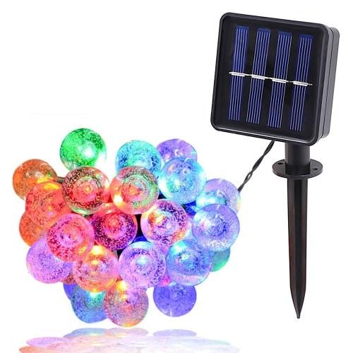 Solar 1.8CM Bubble Bulb Lamp String IPX4 2/8 Lighting Modes 5/6.5/7/9.5/12/22M 20/30/50/100/200LED