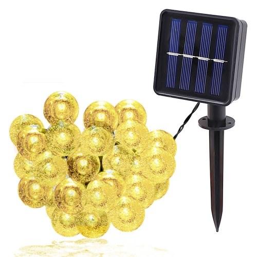Солнечная 1,8 см пузырьковая лампа строка IPX4 2/8 режимов освещения 5 / 6,5 / 7 / 9,5 / 12/22 м 20/30/50/100 / 200LED L4317WW-1