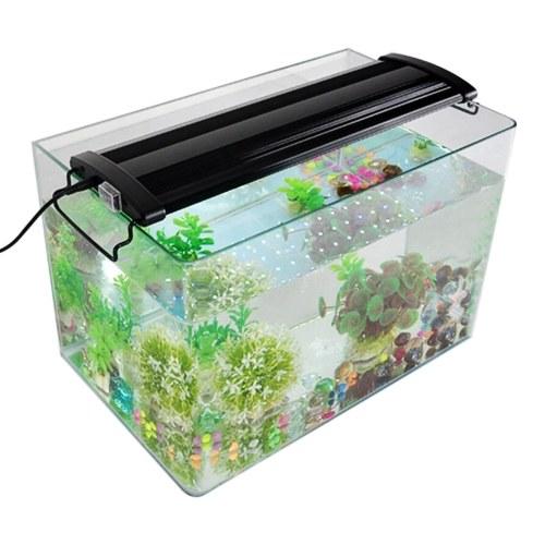 12 V  LEDs Aquarium Light Lamp Ultra Thin Design Dual Lighting Effects Adjustable Bracket for Fish Plant Growth