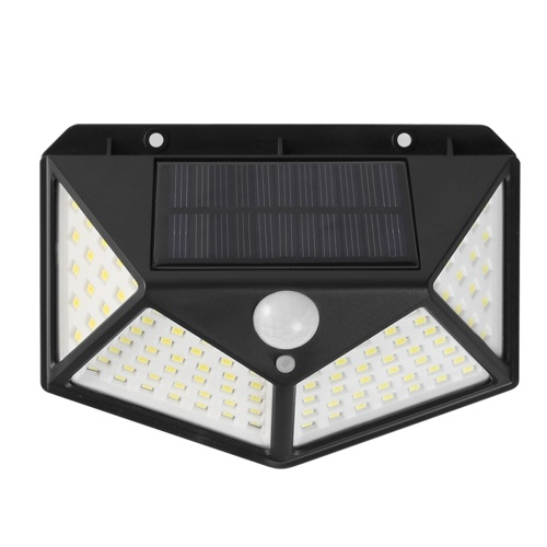100LED Solar Wall Light Motion Sensor Light Human Body Induction Lamp Outdoor Lighting IP65 Water-resistant for Pathway Patio Yard Garden Courtyard