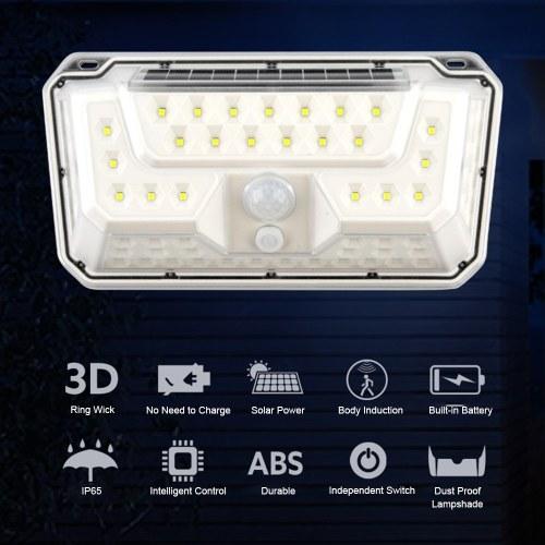73 LEDs Solar Wall Lamp IP65 Corridor Courtyard Street Light Two Lighting Modes