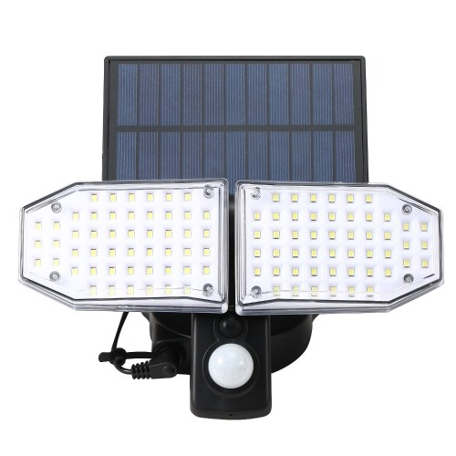 100 SMD LED  IP65 Environment-friendly Solar Sensor Light Durable Outdoor/Indoor Use Sensor Lamp Wight Light