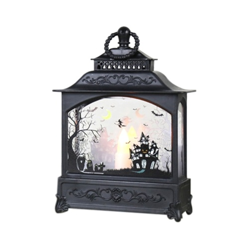 Halloween Candle Lantern Vintage Style Handheld Candle Led Lamp Indoor Outdoor Party Centerpiece Decorative Hanging Light