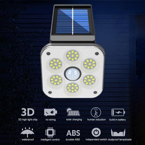 48 SMD LED Solar Lamp Human Induction Rotatable Street Lamp Wall Lamp