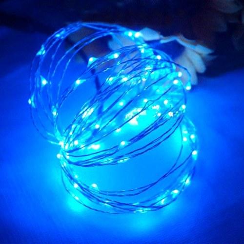 Cadena de luz de alambre de cobre USB 5V Fuente de alimentación Luces de hadas Lámpara de decoración de fiesta