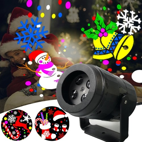 16 Muster RGB Multicolour LED rotierende Projektionslampe Indoor High Brightness Weihnachtsfilmlampe