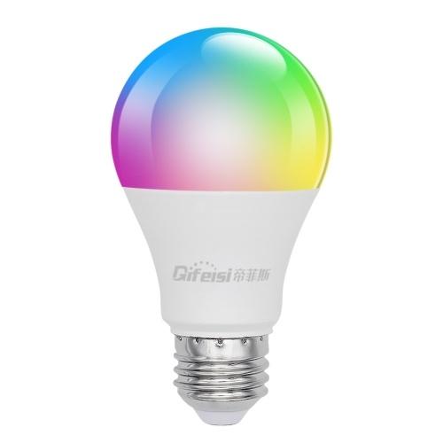 AC220V-240V 9W A60 E27 Интеллектуальные светодиоды Wi-Fi Лампы Лампа Приложение для смартфона Голосовое управление Лампы с изменением цвета RGBW