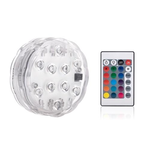 Lumière de plongée télécommandée colorée étanche bouton sous-marin lumière d'aquarium