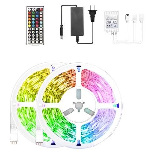 Bande lumineuse IR à 44 touches Récepteur IR Modes dynamiques 5050RGB Set Décoration de fête à la maison
