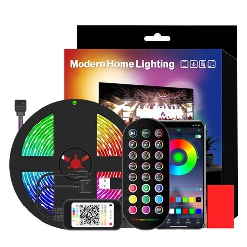 1M 30 5050 SMD TV Música Ritmo Tira de luz Inteligente USB Tira de luz Control remoto Tira de luz RGB 4 modos de iluminación 16 colores de luz Control BT + control remoto de 24 teclas