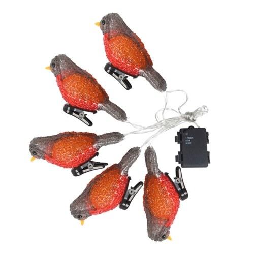 Acrylic Bird Lamp String Waterproof Battery Box Decorative Lamp LED Holiday Decorative Lamp Waterproof IP44