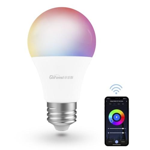 E26 100-130V WiFi Интеллектуальная лампа 9 Вт 810LM RGB + CCT Регулируемый переключатель времени освещения APP Пульт дистанционного управления Голосовое управление
