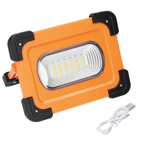 Lámpara solar LED Lámpara portátil Lámpara de reflector 4 modos de iluminación Función de adsorción magnética fuerte 30 ~ 70㎡ Área de iluminación Función de banco de energía 30 / 60LED Rojo Azul Luz blanca intermitente
