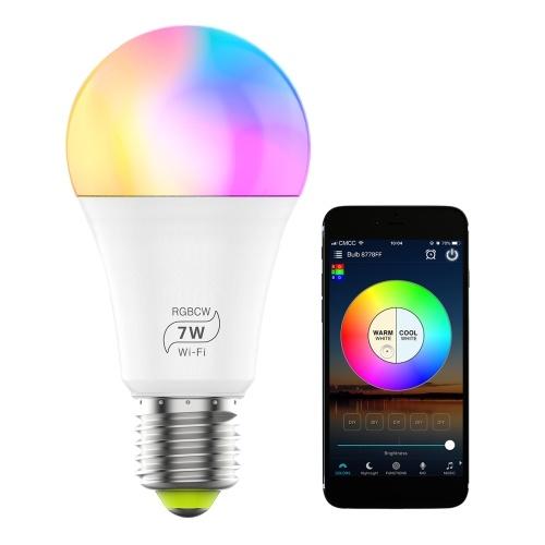 100-264 В, 7 Вт, беспроводное подключение, Wi-Fi + подключение через BT, светодиодная лампа
