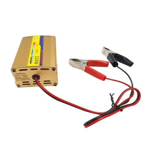 DC12-AC220V220Wインバーターパワーシステム2 * USB出力付きカーヨット充電屋外アクティビティ用