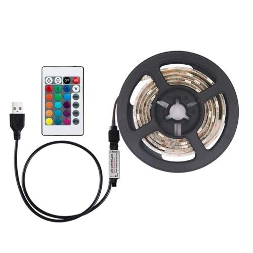 DC5V 6W 1M 60 LED RGB Strip Light con telecomando