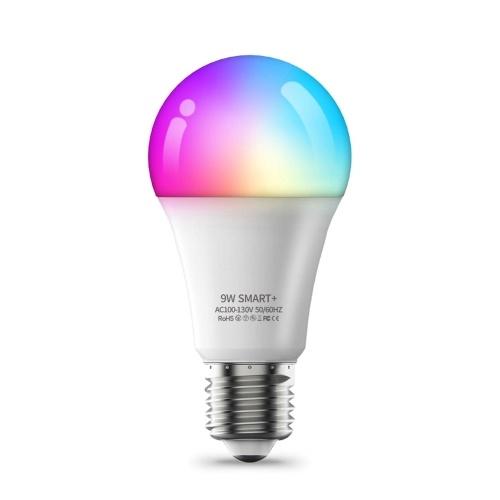 9W-110V E26 Smart Light Bulb Wi-Fi LEDs Bulbs 2700K-6500K RGBW Voice Control Timer for Home Party Decor