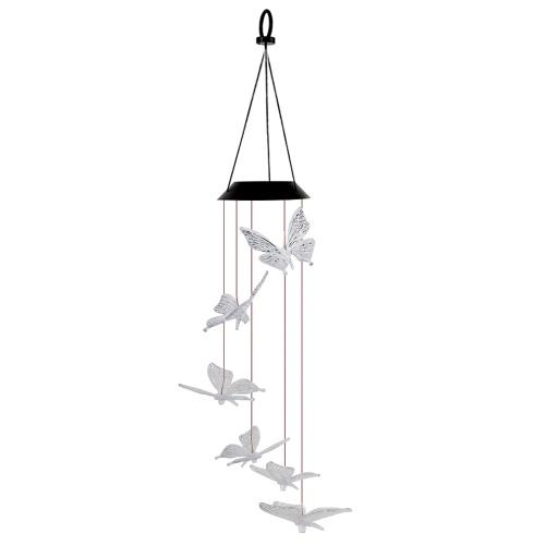Solar Wind Glockenspiel Licht Hof Garten Windbell Kronleuchter Landschaftslampe Wasserdicht IP65 Mehrfarbenlicht