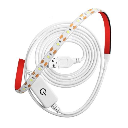 Barre lumineuse à LED 2835 5V Ruban adhésif brillant portable étanche Lumières Bandes Outils d'éclairage polyvalents Facile à installer et rapide pour machine à coudre Dask