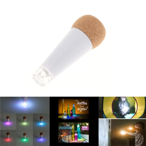 Cork Shaped Rechargeable USB LED Night Light Super Bright Empty Wine Bottle Lamp for Party Patio Xmas