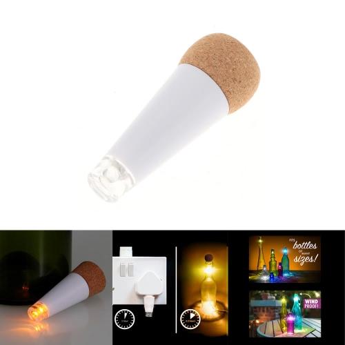 LIXADA пробка форме перезаряжаемые USB LED пустой бутылки вина ночная лампа с желтых свечей для Xmas Party Патио
