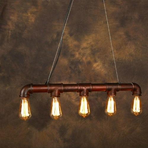 Lixada Retro Personality Water Pipe Shaped Hanging Pendant Lamp Holder